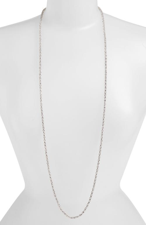 Pavé Long Layering Necklace by Anne Klein in No Strings Attached