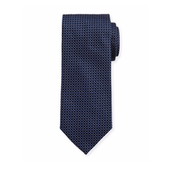Woven Dotted Circles Neat Silk Tie by Eton in Death Wish