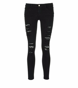 Le Skinny De Jeanne Rip Slim Fit Jeans by Frame Denim in Keeping Up With The Kardashians