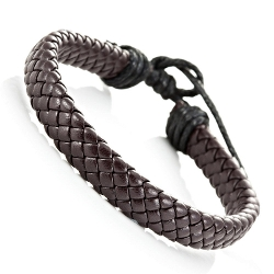 Trendy Braided Brown Pu Leather by Urban Jewelry in Max