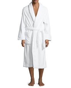 Plush Spa Robe by Neiman Marcus in The Overnight