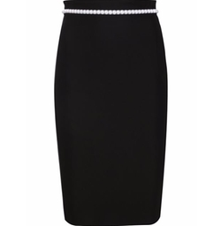 Pearl Embellished Pencil Skirt by Mugler in Empire