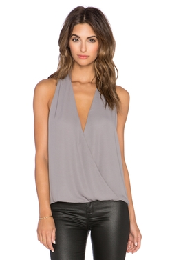 Surplice Tank Top by Krisa in Billions