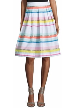 New York Ribbon Striped Pleated Skirt by Kate Spade in Fuller House