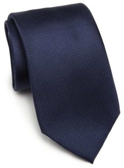 Solid Silk Tie by Saks Fifth Avenue Collection  in Power
