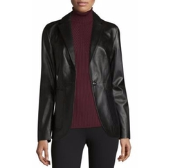 Leather Blazer by Saks Fifth Avenue Collection in The Fate of the Furious