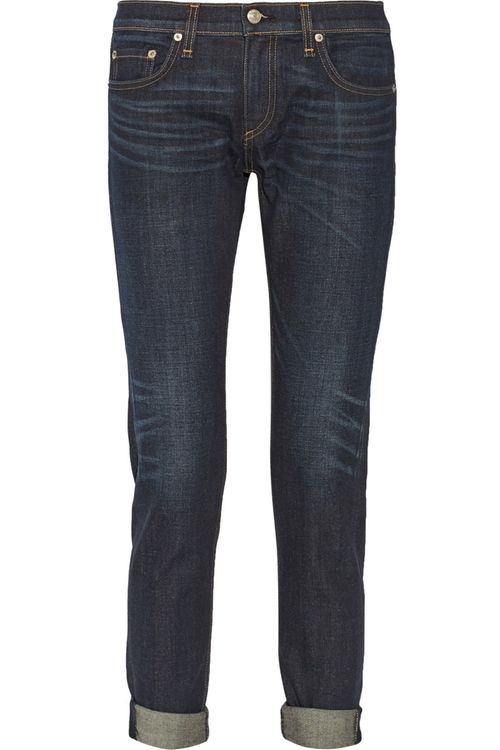 The Dre Mid-Rise Slim Boyfriend Jeans by Rag & Bone in We Are Your Friends