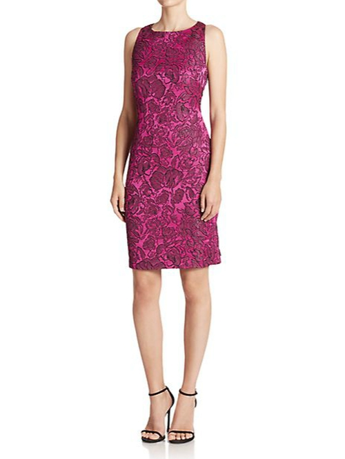 Floral Jacquard Racerback Dress by Badgley Mischka in The Mindy Project - Season 4 Episode 5