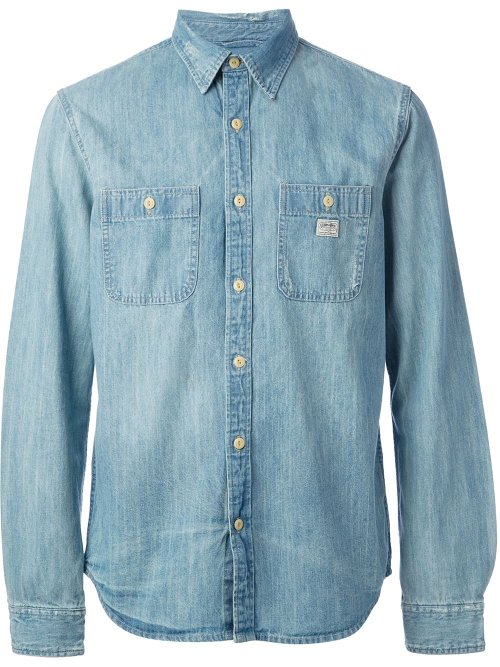 Men's Denim Shirt Long Sleeve Shirt by Walls in The Place Beyond The Pines