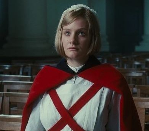Custom Made Cross-Body Reversible Wool Cape by Jacqueline Durran (Costume Designer) in Atonement