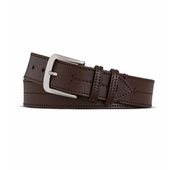 Bridle Center Stitch Leather Belt by Shinola in The Ranch