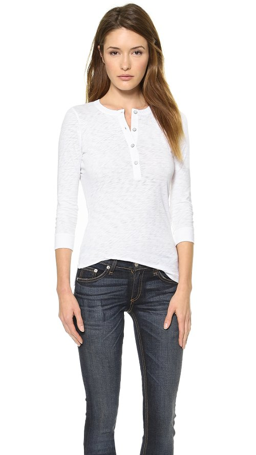 The Henley Tee by Rag & Bone/JEAN in If I Stay