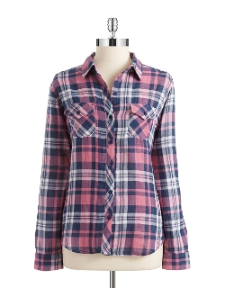 Plaid Button-Down Shirt by Beach Lunch Lounge in Thor
