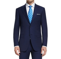 Sienna Contemporary-Fit Solid Two-Piece Travel Suit by Canali in Fifty Shades Darker