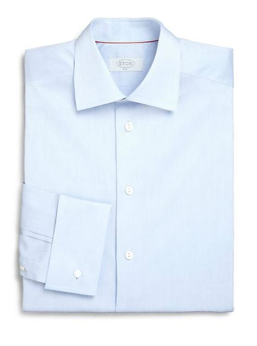 French Cuff Twill Dress Shirt by Eton of Sweden in Suits - Season 5 Episode 1