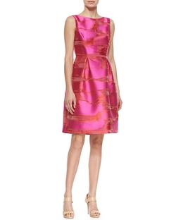 Metallic Space-Dyed Full-Skirt Dress by Lela Rose in The Mindy Project