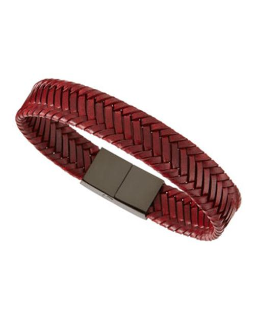 Woven Leather Bracelet by Link UP in Into the Storm