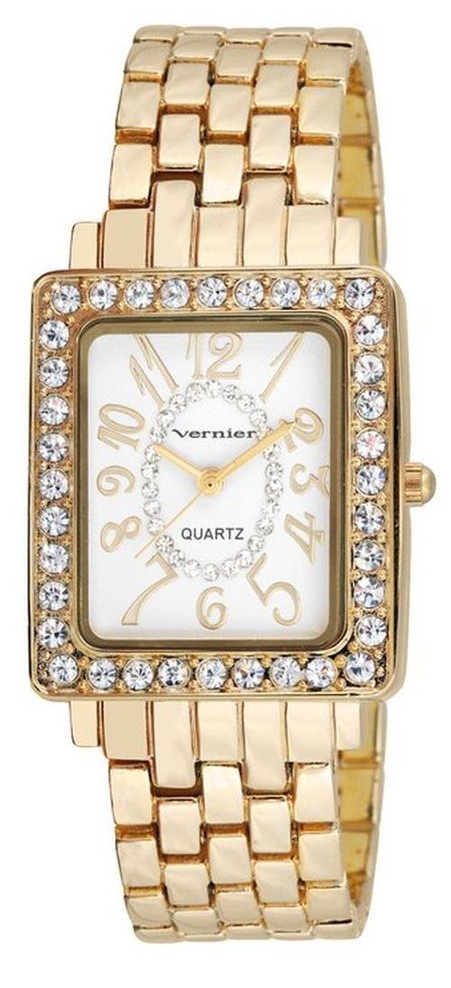 Crystal Bezel Bracelet Watch by Vernier in Bridesmaids