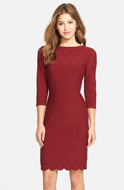 Eyelet Sheath Dress by Julia Jordan in Love Actually