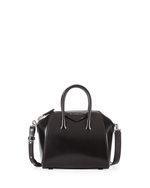 Antigona Mini Leather Satchel Bag by Givenchy in The Transporter: Refueled