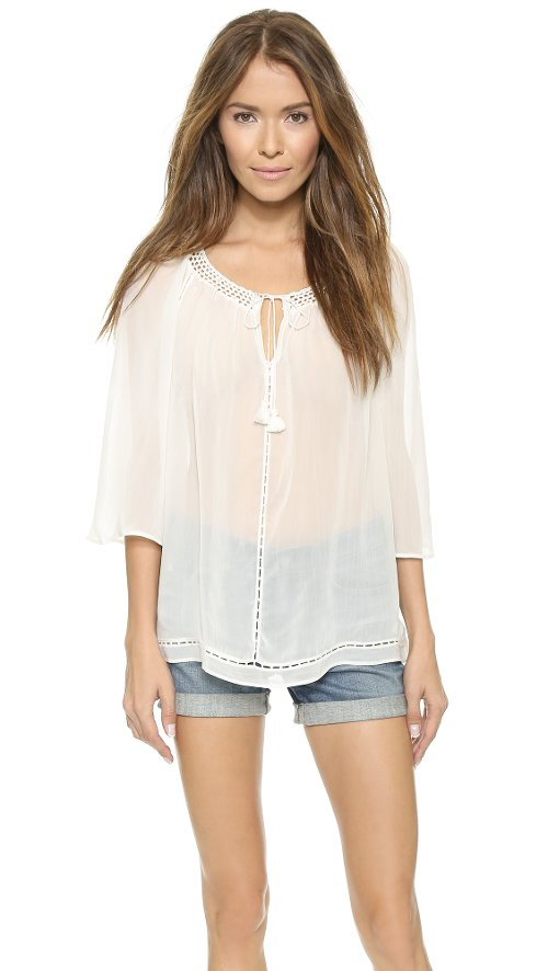 Mapton Wide Sleeve Peasant Top by Alice + Olivia in While We're Young