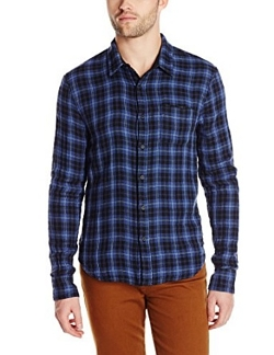 Men's Reversible Solid/Plaid Button-Front Shirt by Joe's Jeans in Before I Wake
