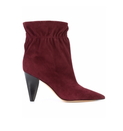 Carmen Elastic Cone Heel Booties by Derek Lam in Empire