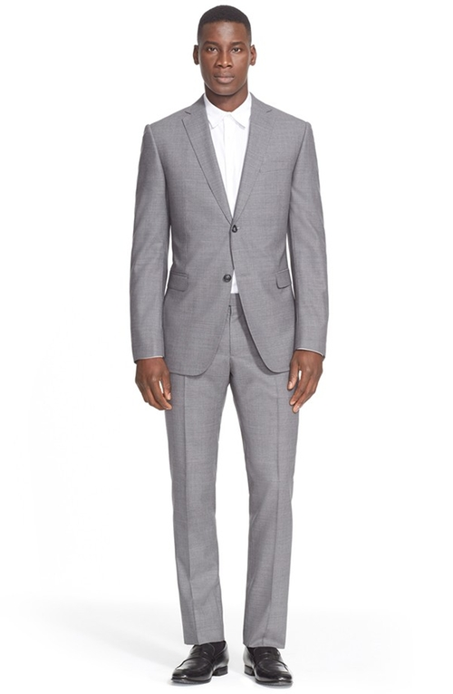 Trim Fit Solid Wool Suit by Z Zegna in Ballers - Season 1 Episode 1
