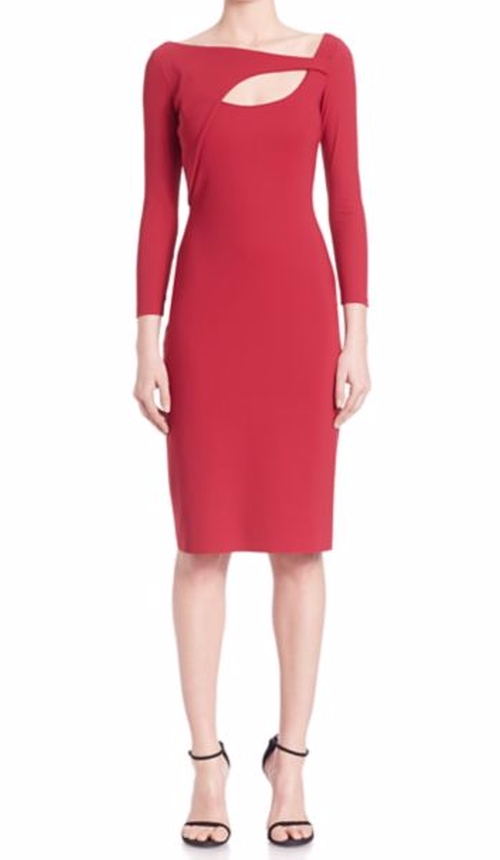Three-Quarter Sleeve Cutout Dress by La Petite Robe di Chiara Boni in The Good Wife - Season 7 Episode 20