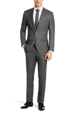T-Hacer/Gage Italian Virgin Wool And Silk Suit by Boss in New Girl