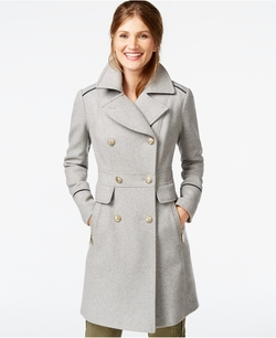 A-Line Military Walker Coat by Vince Camuto in Christmas Vacation