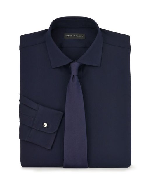 Stretch Wool Twill Dress Shirt by Ralph Lauren in The Gambler