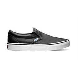 Classic Slip-On Aged Leather Sneakers by Vans in The Big Bang Theory