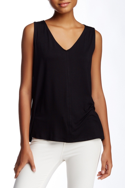Crossback Pleated Tank Top by Laundry in The Fundamentals of Caring
