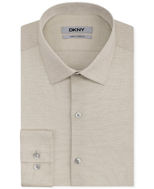 Slim-Fit Antique Solid Dress Shirt by DKNY in Hall Pass