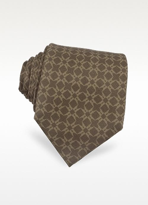 Printed Silk Tie by Moreschi in Hall Pass