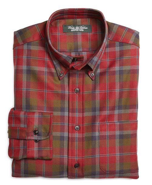 Country Club Wool Sport Shirt by Brooks Brothers in While We're Young