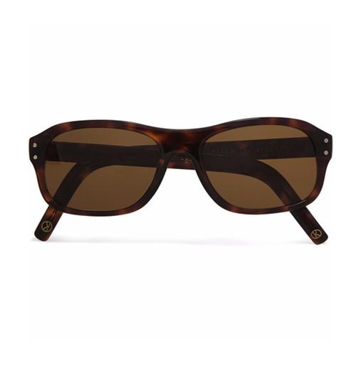 Tortoiseshell Acetate Square-Frame Sunglasses by Kingsman + Cutler And Gross in Kingsman: The Secret Service