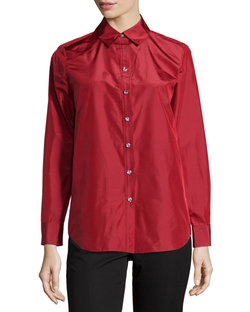 Silk Crystal-Button Blouse by Paperwhite in Valentine's Day