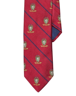 Striped Silk Repp Club Tie by Ralph Lauren in Life