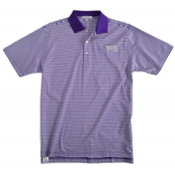 Texas Christian University Classic Stripe Golf Shirt by Peter Milar in Ballers