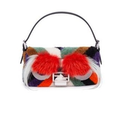 Leather, Fur & Shearling Baguette Handbag by Fendi in Empire