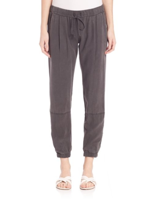 Zip Leg Jogger Pants by Bella Dahl in Into the Forest