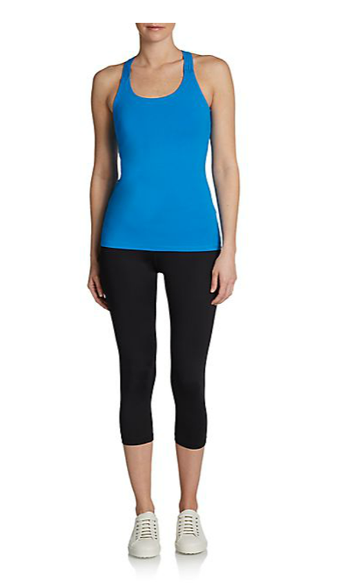 Performance Fitted Stretch-Cotton Tank Top by Calvin Klein in The Best of Me