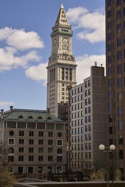 Boston, Massachusetts by Custom House Tower in Black Mass