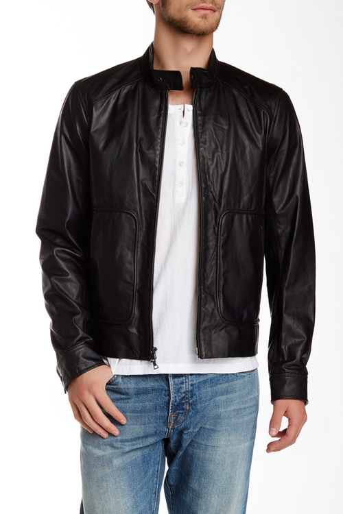 Leather Moto Jacket by Vince in Point Break