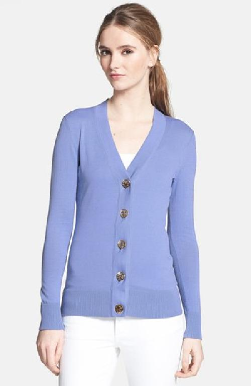 'Simone' Cotton Cardigan by Tory Burch in Million Dollar Arm