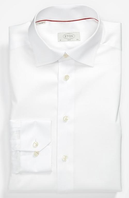 Slim Fit Non-Iron Dress Shirt by Eton in Legend