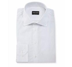 Hairline-Stripe Dress Shirt by Giorgio Armani in Billions