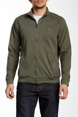 Palisuede Full Zip Sweater by Tommy Bahama in Everest